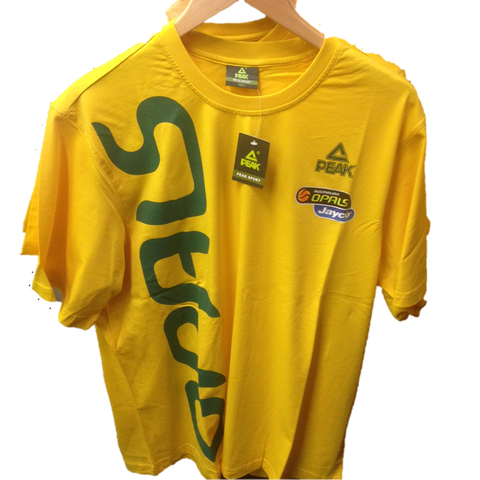 Aussie Opals T-Shirts  (Yellow)