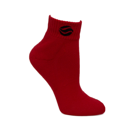BASKETBALL AUS RED MID SOCKS