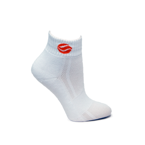 BASKETBALL AUS WHITE MID SOCKS