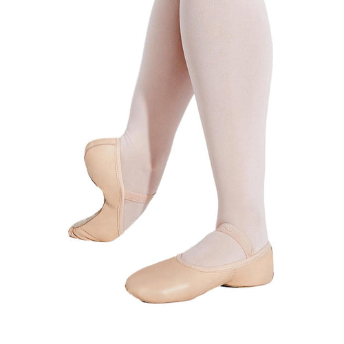 Female model wearing Capezio Lily Ballet Shoe, style 212C, colour ballet pink