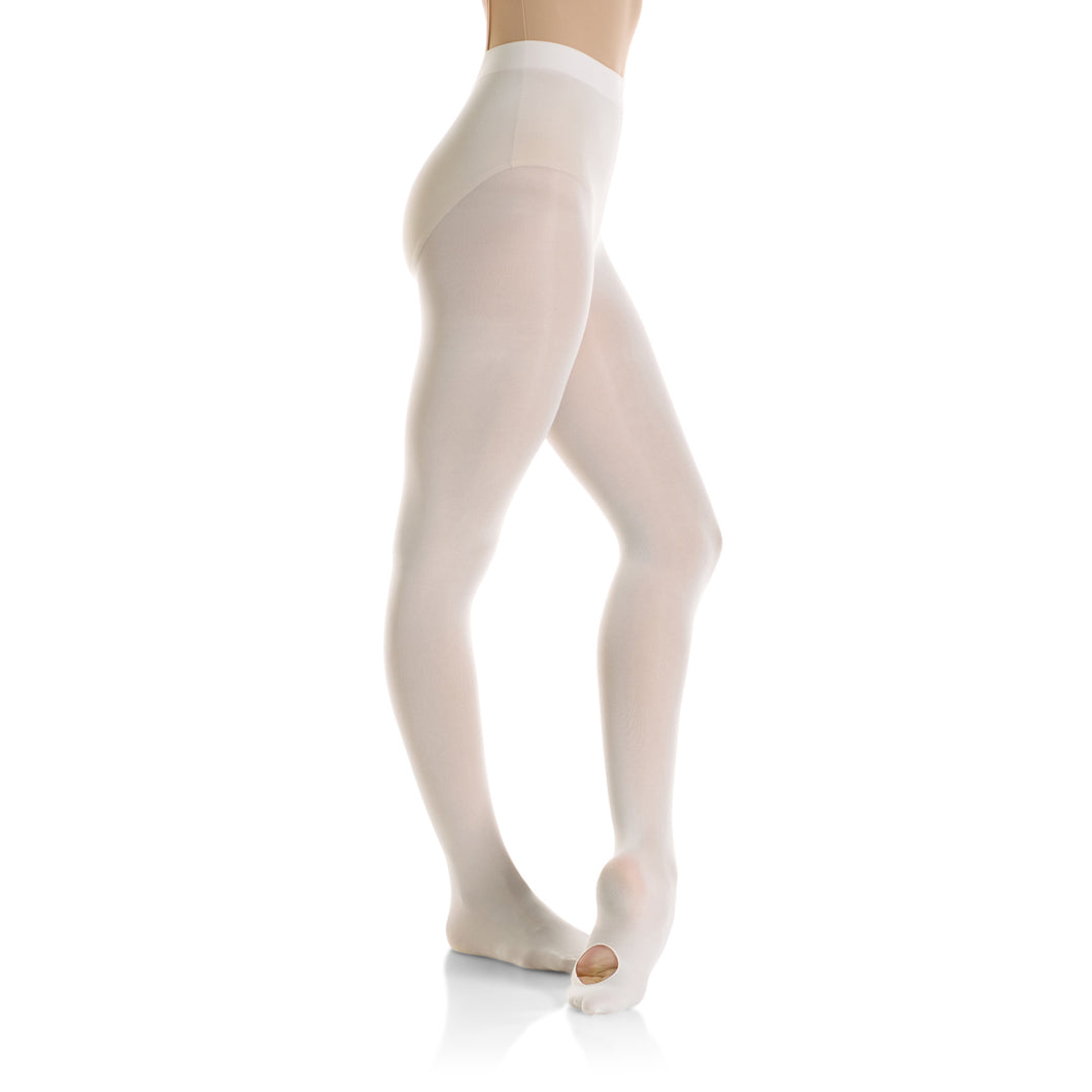 Female model wearing Mondor Ultra Soft Tight, style 319, colour ballerina.