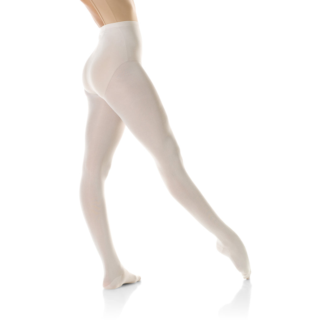 Female model wearing Mondor Durable Tight, style 345, colour ballerina.