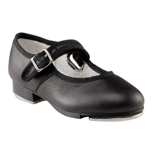 Product image of: CAPEZIO Mary Jane Tap Shoe - Kids, Style: 3800C, Color: Black, 45 degree side view.