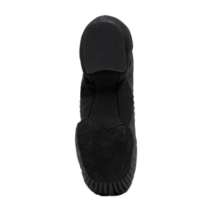 Product image of BLOCH Pulse Leather Jazz Shoe, Style: S0470L, Color: Black, View: Bottom.