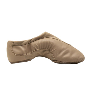 Product image of BLOCH Pulse Leather Jazz Shoe, Style: S0470L, Color: Tan, View: Side.