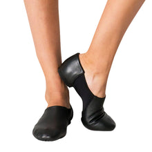 Load image into Gallery viewer, Female model wearing CAPEZIO Hanami Wonder Jazz Shoe, Style: CG30W, Color: Black, View: Front and side.