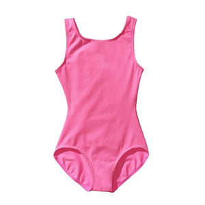 Product image of Capezio High-Neck Tank Leotard, style CC201C in color candy pink, front view.