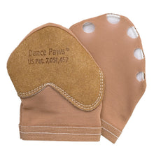 Load image into Gallery viewer, Product image of Dance Paws Original Shoe, colour dark nude, front & back view.