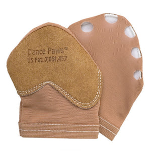 Product image of Dance Paws Original Shoe, colour dark nude, front & back view.