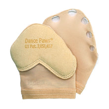 Load image into Gallery viewer, Product image showing Dance Paws Original Shoe, colour light nude, bottom & top view.
