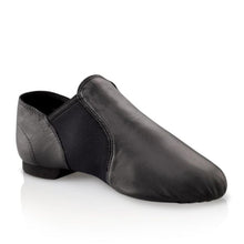 Load image into Gallery viewer, Product image of Capezio Jazz Slip On Shoe, style EJ2, colour black, 45 degree view.