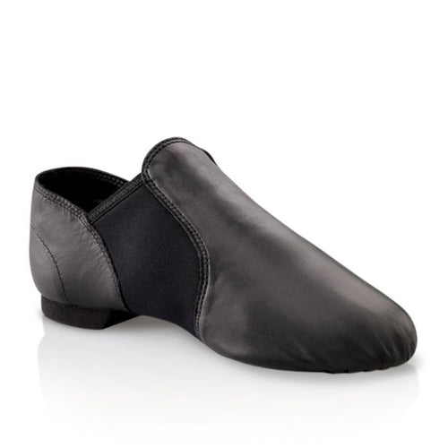 Product image of Capezio Jazz Slip On Shoe, style EJ2, colour black, 45 degree view.