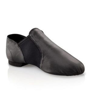 Product image of Capezio EJ2 Slip On Jazz shoe, shown in color caramel