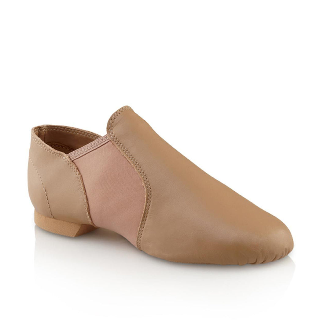 Product image of Capezio Jazz Slip On Shoe, style EJ2, colour caramel, 45 degree view.