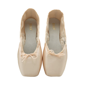 Product image of BLOCH TMT B-Morph Moldable Pointe Shoe, style ES0170L, colour Satin Pink, top view.