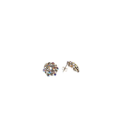 Product image of: FH2 16 mm AB Mixed Cluster Earrings - Pierced, Style: AZ0014 Color: Mixed, View: Front and side.