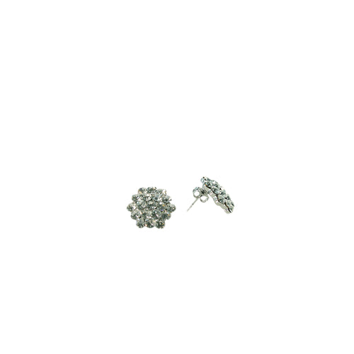 Product image of: FH2 16 mm Crystal Cluster Earrings - Pierced, Style: AZ0015, Color: Clear, View: Front.