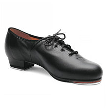 Load image into Gallery viewer, Product Image Bloch Jazz Tap Leather Tap Shoe, style: S0301L, colour black, 45 degree view.