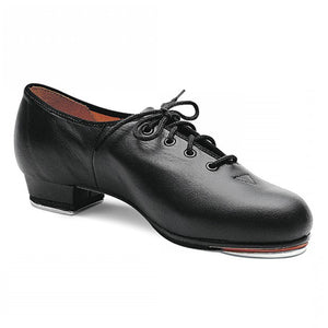 Product image of Bloch Jazz Tap Leather Tap Shoe, shown in color black.