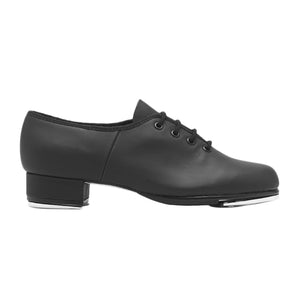 Product Image Bloch Leather Tap Shoe, side view, shown in color black.