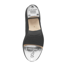 Load image into Gallery viewer, Product Image Bloch Jazz Tap Leather Tap Shoe, style: S0301L, colour black, bottom view.
