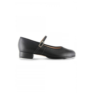 Product image of Bloch Ladies Tap On Leather Tap Shoe, style S0302L, shown in color black, side view.