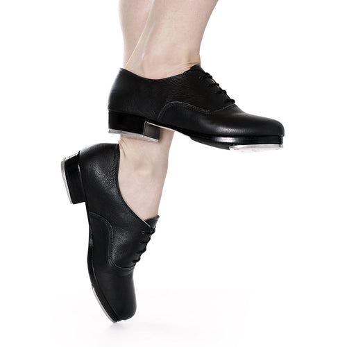 Product image of: SO DANCA Premium Lthr Pro Tap Shoe, Style: TA700 / TA800, Color: Black, View: Side.