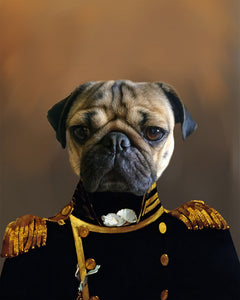 The Admiral Custom Dog & Pet Poster