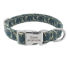 Load image into Gallery viewer, Customized Dog Collars with Name and ID