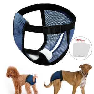 Adjustable Dog & Puppy Diaper + Free 3 Diaper Pads