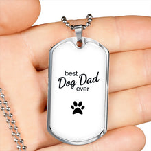 Load image into Gallery viewer, Best Dog Dad Ever Necklace + Free Case