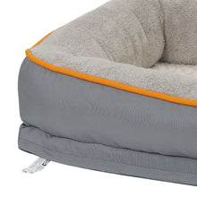 Load image into Gallery viewer, Dog Bed With Memory Foam & Removable Washable Cover (Free Toy Included)