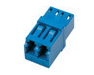 Adapter/Coupler LC Duplex SM Female to Female Blue With Flange  (Minimum 10 Pieces) - Connectedfibers-Online