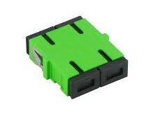 Adapter/Coupler SC SM Female to Female Duplex Green No Flange  (Minimum 10 Pieces) - Connectedfibers-Online