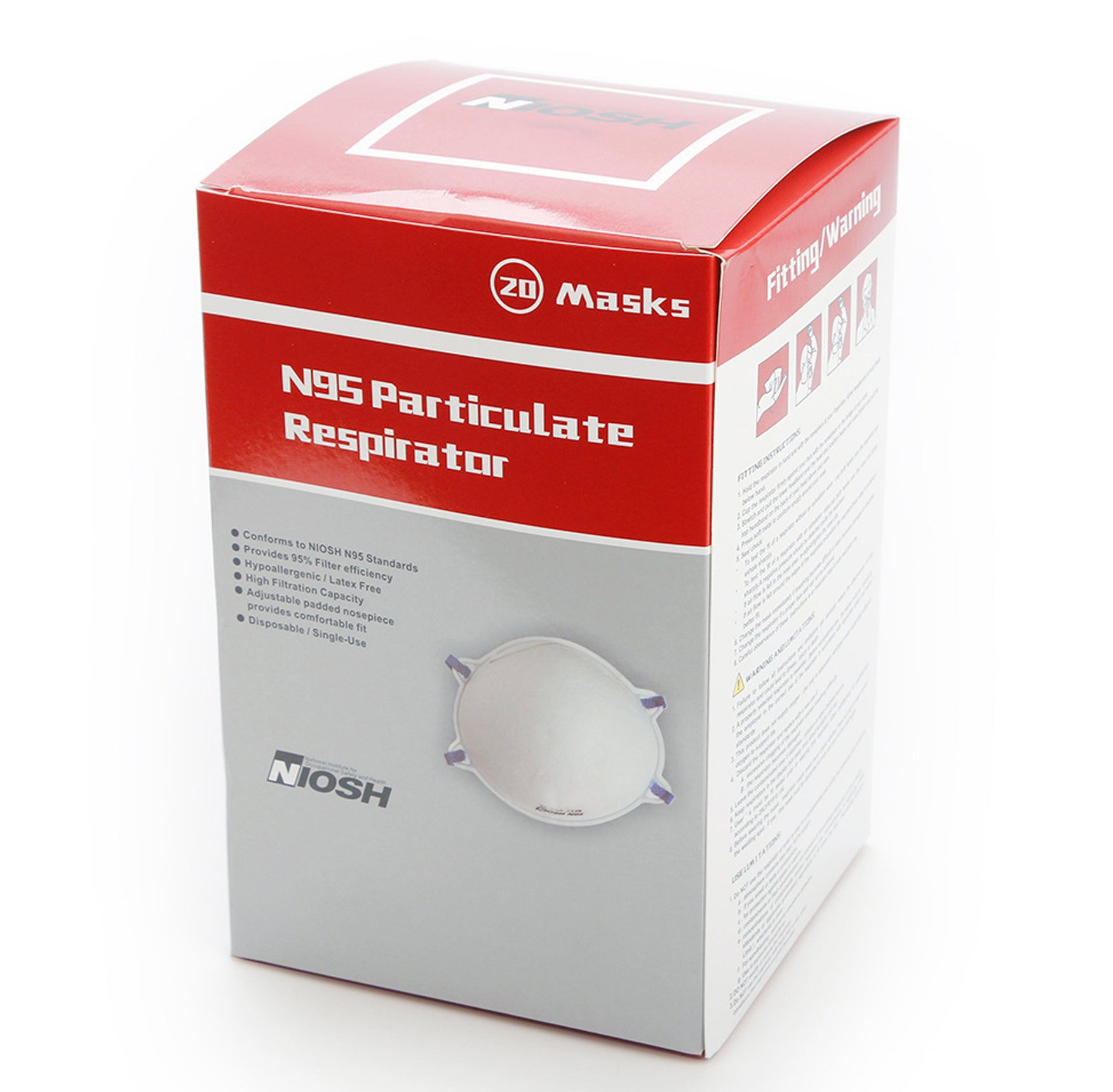 N95 Particulate Respirator 20 Mask Box