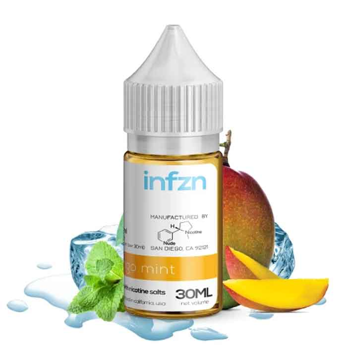 Infzn Salt Nic E-Liquid - Mango Mint - 30mL - Dukkan Vape UAE
