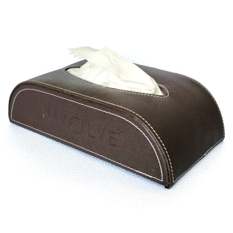 Involve® Luxury Art Leather Tissue Box : Charcol Brown
