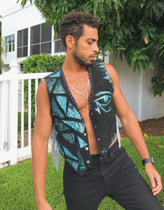 Patchwork Eye of Horus Vest