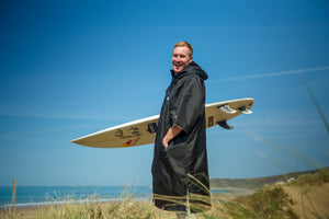 Big wave surfer Andrew Cotton renews ambassador relationship with dryrobe