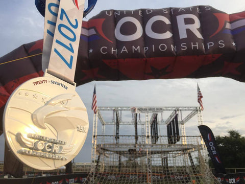 OCR, united, states, obstacle, course, racing, dryrobe, medal, hunter, mcintyre