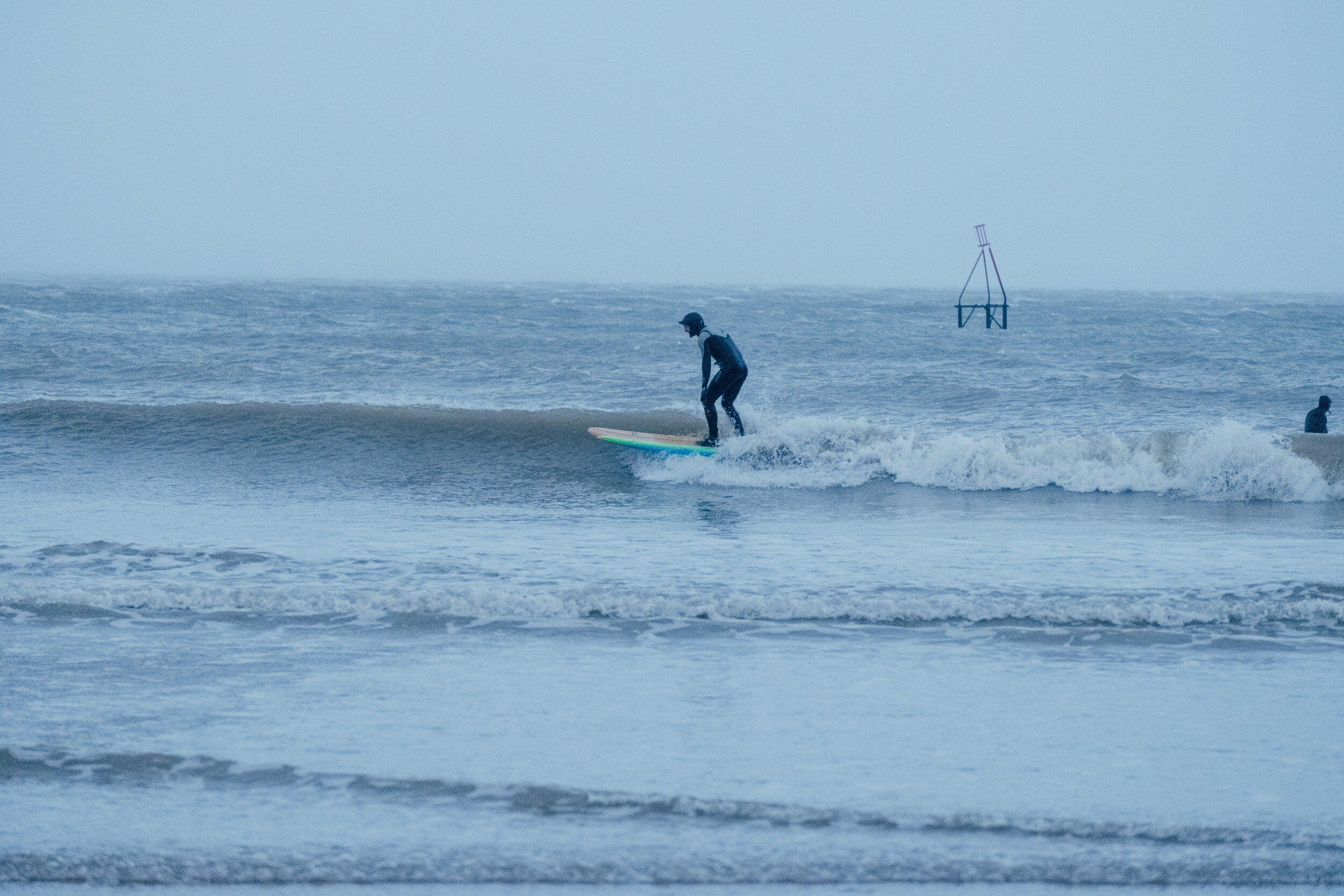 Craig Hyde surfing in north wales