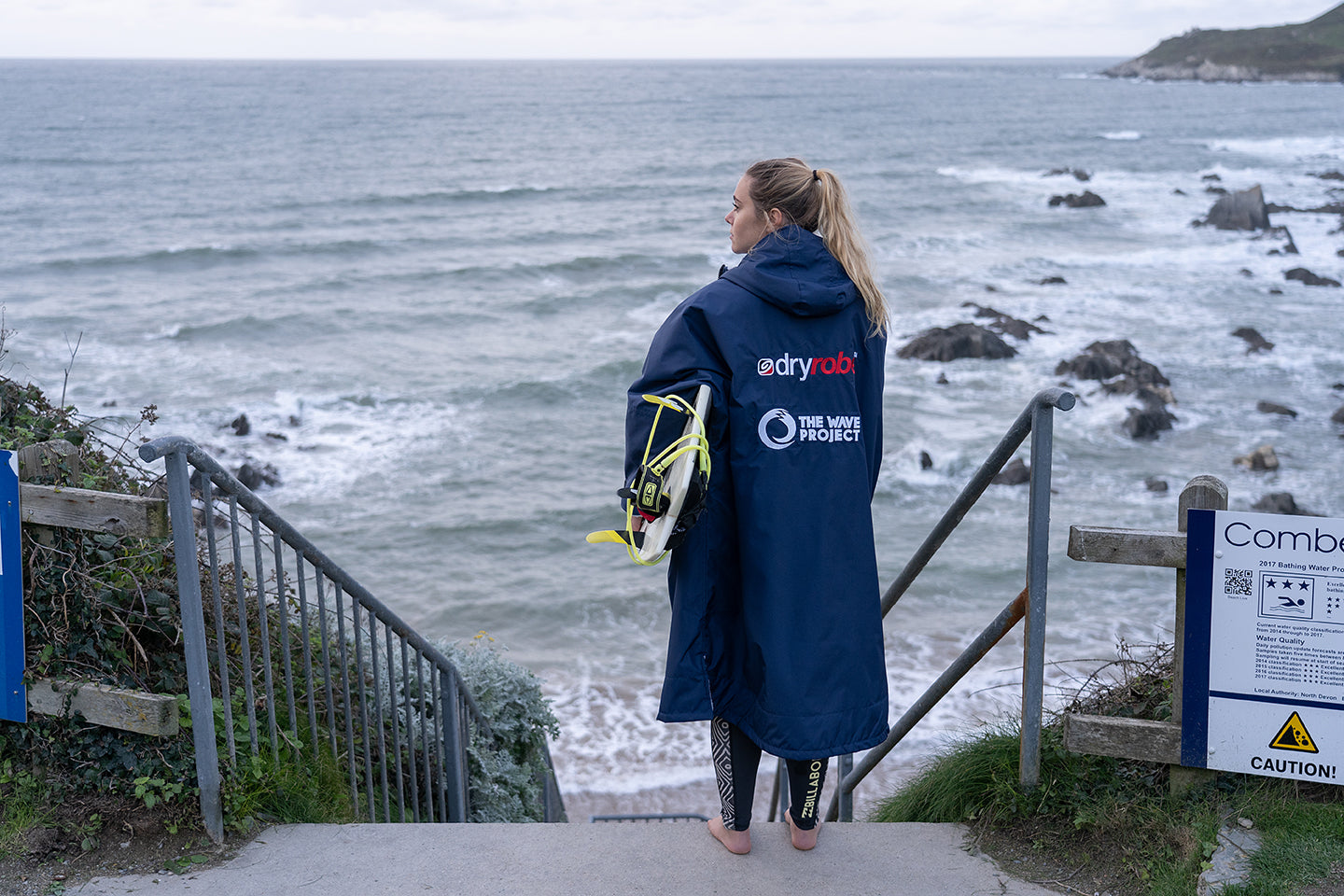 The Wave project branded dryrobe