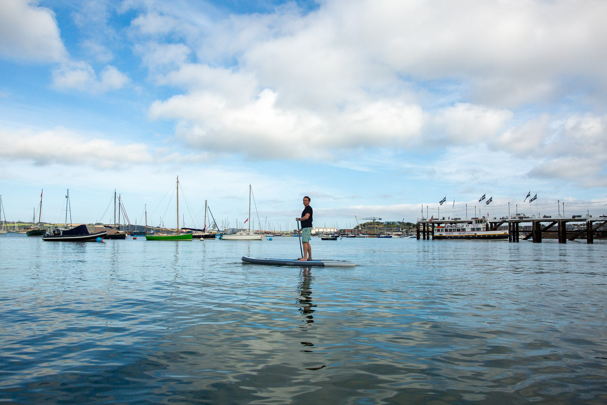 Stand Up Paddleboarding in Falmouth with Tom Telford