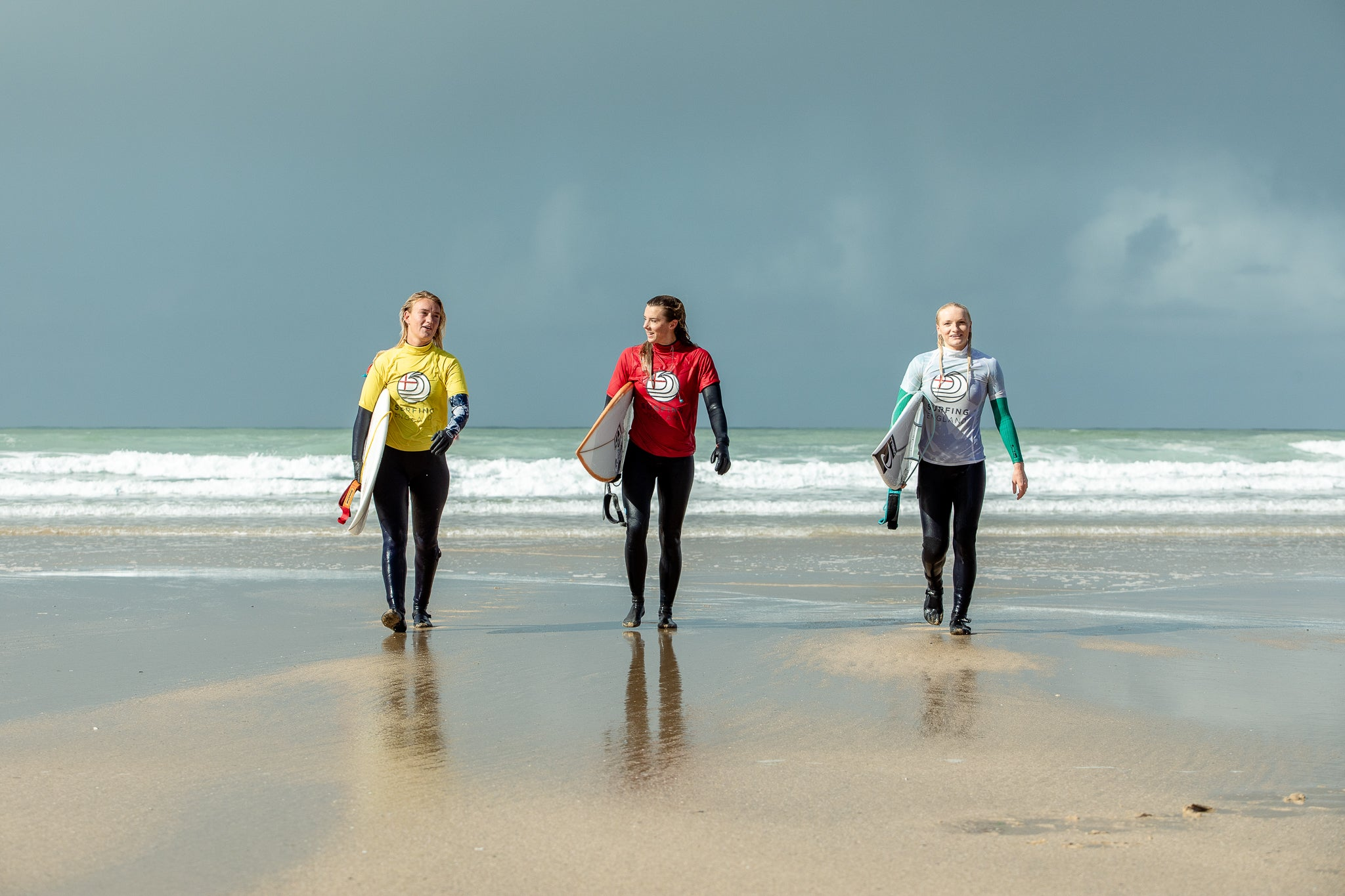 Women's Finalists at 2020 English National Surf Championships