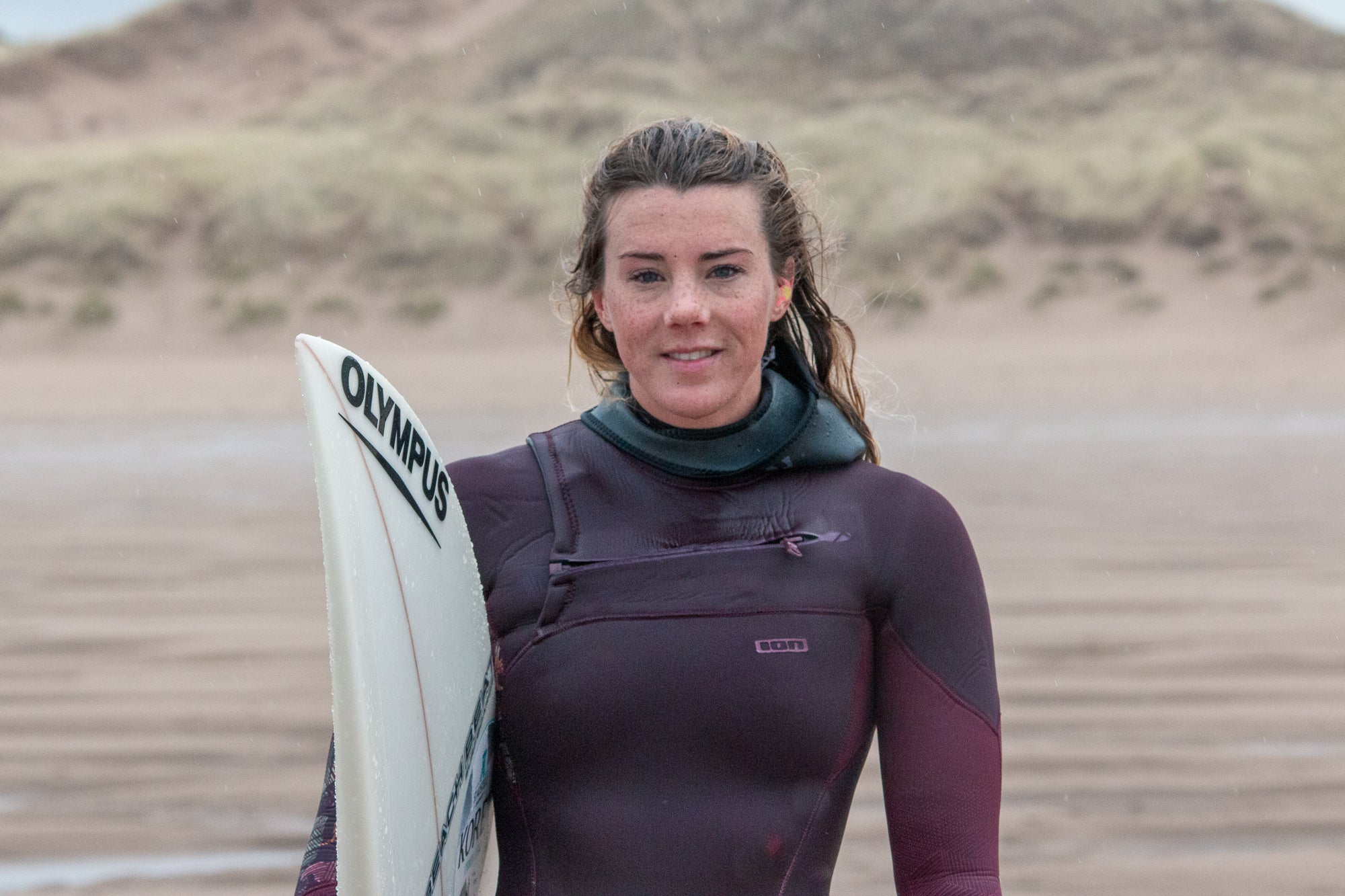 Lucy Campbell ready to surf