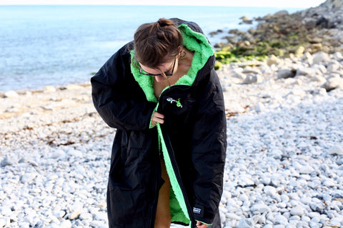 dryrobe, advance, long, sleeve, change, swim, surf