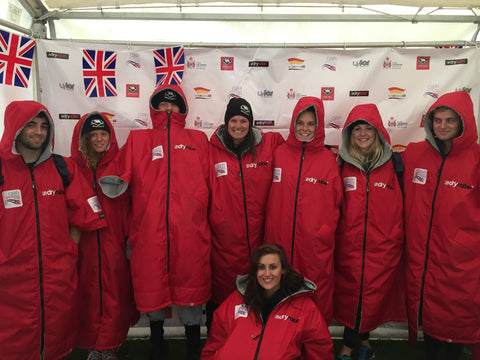 dryrobe supply Team GB surf lifesaving national team