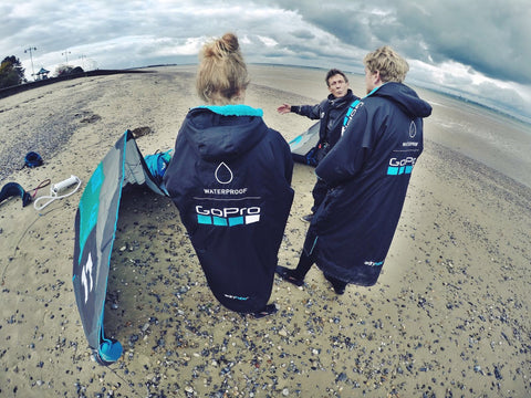 dryrobe, dryrobeterritory, gopro, kitesurf, custom, partnership, outdoors, sport