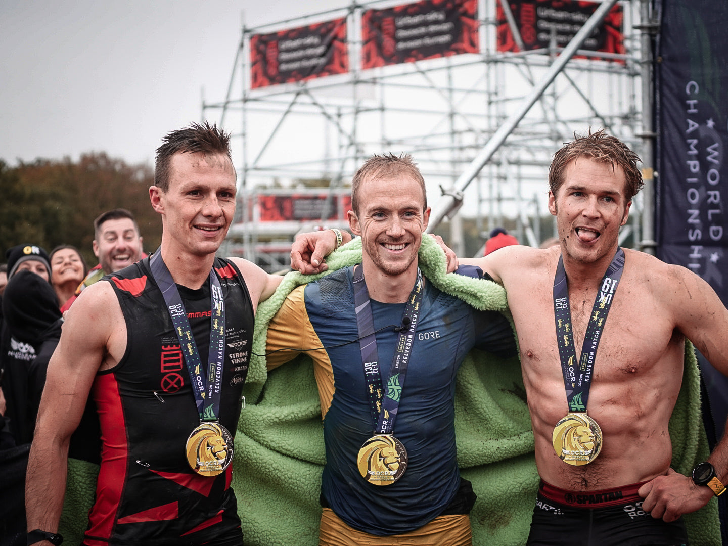 Jon Albon, Ryan Atkins and Thomas Buyle at the OCRWC 2019