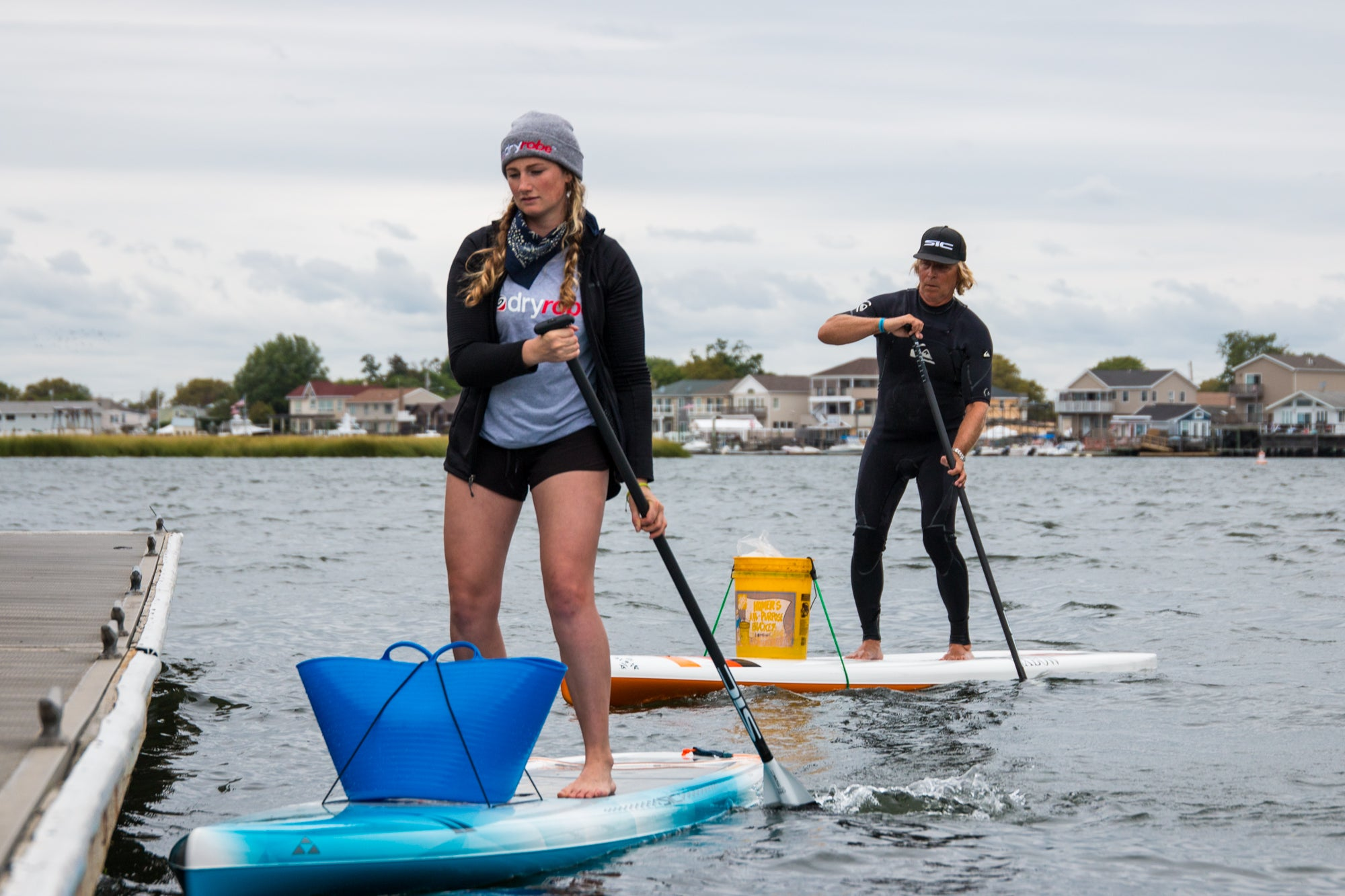 Cal Major waterway clean up at the 2019 NY SUP Open